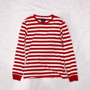 Official HUF Primary Red Striped Long Sleeve